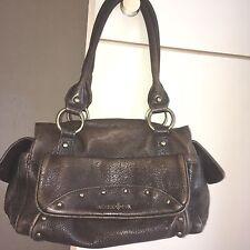Patrick Cox antique brown leather look shoulder bag