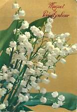 Postcard Greetings flowers bouquet nature natural snowdrops leaf green white art