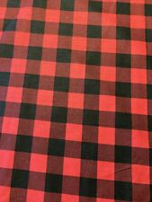 Red Black Buffalo Plaid 100% COTTON Fabric by the Half Yard