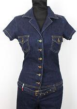 Rare 90s Women's Vintage Tommy Hilfiger Denim Jean Jumpsuit Overalls Romper XS/S