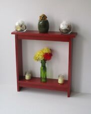 Entryway Table small accent table skinny table console table Barn Red Stain