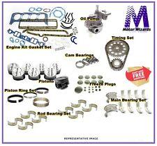 MERCRUISER Chevy GM 350 V8 5.7 Marine Engine Rebuild Kit w/Pistons - STD Rot 2PC