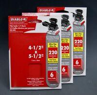 "18 Count NEW Diablo 4-1/2"" x 5-1/2"" 220 Ultra Fine Palm Sander Sheets S-4940"