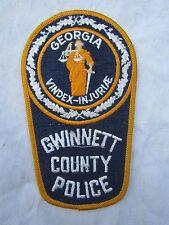 USA POLICE SEW ON BADGE / PATCH / CLOTH / GEORGIA / GWINNETT  unused
