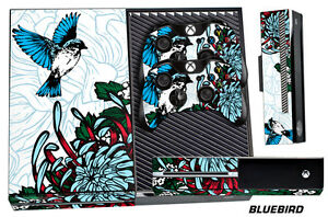 Skin for XBOX ONE 1 Console 2 Controller Graphics Sticker Wraps Decal BLUEBIRD