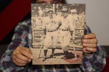 Vintage 1930's Louisville Slugger Baseball Bat New York Giants Store Promo Sign