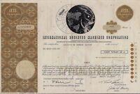 International Business Machine Corp. IBM stock certificate to Swiss bank 1 share