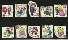 SUPER MARIO - COMPLETE SET OF 10 JAPANESE POSTAGE STAMPS