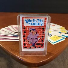 Vtg 60s Who is the Thief Whitman Card Game Playing Deck 1966 Western Publishing
