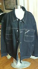 Pelle Pelle Marc Buchanan Heavy  Dark Wash Blue Denim Button Down Jacket  XXL