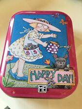 Mary Engelbriet tin box happy day