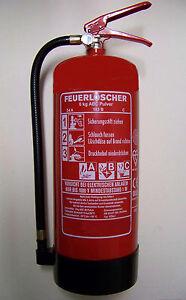 3 Stück Pulver Feuerlöscher 6 kg P6 Neuste Produktion mit Instandhaltungsnachwe