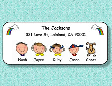 FAMILY FACES PERSONALIZED ADDRESS LABELS