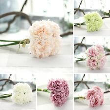 Soie Artificielle Peony Fleurs 5 Têtes Nuptial Hortensia Fête Mariage