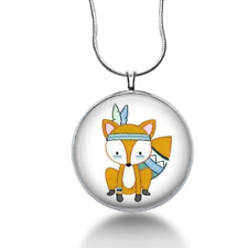 Fox necklace woodland animals -fun jewelry for women and teens- unique gifts