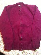 Vintage, Handmade Child's Sweater, Maroon, Small Size