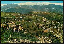 AD2833 Spain - Granada - Vista aérea de la Alhambra y Sierra Nevada