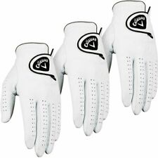 New Callaway Dawn Patrol 100% Leather Gloves x 3 Mens LH Large White 5313382
