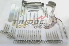 Basic laparotomy set 104pcs surgery medical abdominal gold surgical instrument.