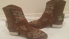 Jeffrey Campbell suede Presley studded cowboy Boots Sz 6.5, fits 7