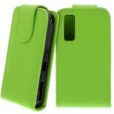 Para Samsung Star S5230 Móvil Funda Con Tapa Verde