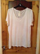 BNWT Ladies White Top Size XL 16/18 H&M