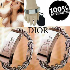 100%AUTHENTIC Ltd Edtn DIOR COUTURE SILVER SIGNATURE ID JEWELLED CHARM BRACELET