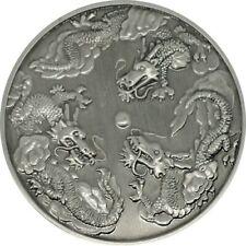 2007Triple Dragon Geocoin Geocoin - Antique Silver finish, Unactivated