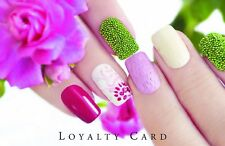 500 x Personalised Loyalty Cards Beauty Salon Manicure Nails with Storage Box