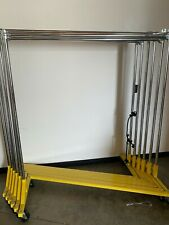 Clothing Rack, heavy duty, Yellow, (6ct.), metal. Rolling, Z-shaped base.