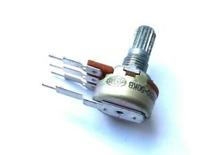3x - ALPS Potentiometer 50k Linear Pot - 50KB Lin - Single Gang + Tag - NOS