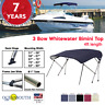 WHITEWATER BIMINI TOP 3 Bow Boat Cover With Rear Poles & Integrated Cover