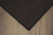 Sisal Teppich umkettelt gemustert ebenholz 200x250cm 100% Sisal schwarz gekettel