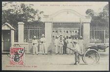 INDO TONKIN - Entrée de la Caserne du 10° Colonial - Collection Mme Liot-Gorsse