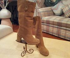 Women's Boots*UGG*Suede*New*Size 10M*Fur Lamb Cushioned Insole*Tan*Rubber Sole*