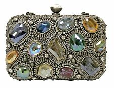 Mary Frances Bags Winter 2013 Silver Prism Multi Silver Bead Purse Handbag NEW