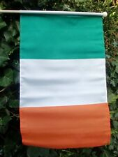 "REPUBLIC OF IRELAND LARGE HAND WAVING FLAG 18"" X 12"" WITH POLE flags EIRE IRISH"