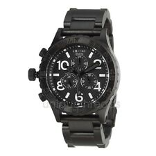 NIXON All Black 42-20 CHRONO Wristwatch WATCH New In Box