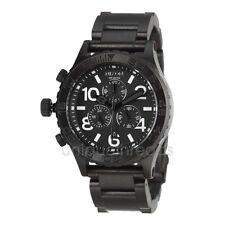 NIXON All Black 42-20 CHRONO Wristwatch WATCH New In Box