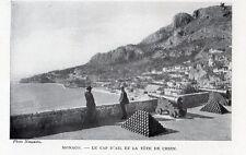 MONACO CAP D AIL ET LA TETE DE CHIEN IMAGE 1908 OLD PRINT