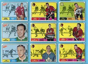 1968-69 Topps Starter Set Lot of 39 Different Hockey Cards Vg/Ex - EX+