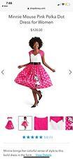 Minnie Mouse Pink Polka Dot Dress XS Women