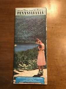 1940 Road Map of Pennsylvania - PA Department of Commerce