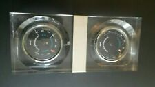 """Marine James Bliss Lucite Thermometer & Hygrometer 9.5"""" X 4"""" from the 70's"""