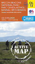 OL13 Brecon Beacons Eastern & Northern LAMINATED ACTIVE Explorer Map OL 13