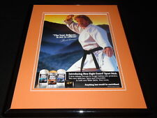 Chuck Norris Facsimile Signed Framed 1993 Right Guard Advertising Display