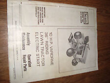 "Sears Lawn Mower 36"" Riding Varidrive Electrtic Start 10 HP Owners Manual"