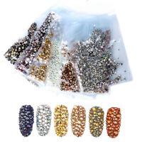 1440 Pcs/Bag Shiny AB Rhinestones 3D Nail Art Decoration Mixed Size Crystal Gems