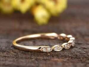 925 Sterling Silver Beautiful Simulated Diamonds Wedding Engagement Band Jewelry