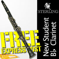 STERLING Bb CLARINET • Case • Best Student Quality • BRAND NEW • FREE EXPRESS •